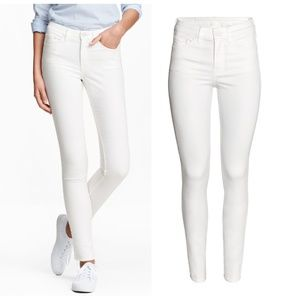 H&M White Skinny Regular Jeans